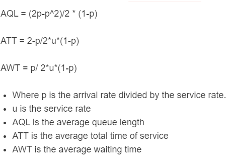 queuing theory formula