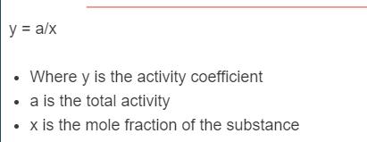 activity coefficient formula