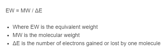 equivalent weight formula