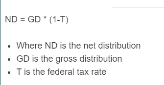 net distribution formula