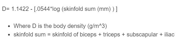 body density formula