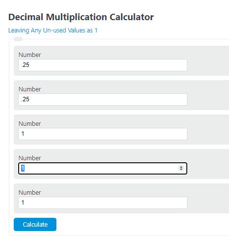 decimal multiplication calculator