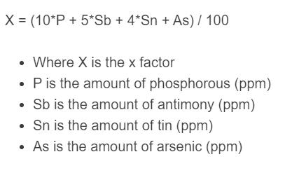 x factor formula