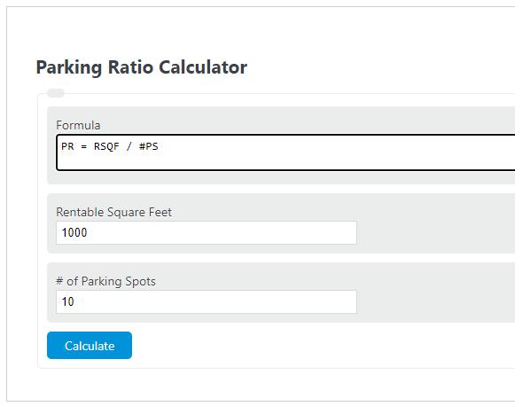 parking ratio calculator