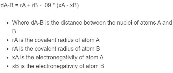 bond length formula