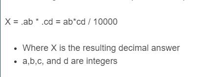 decimal multiplication formula