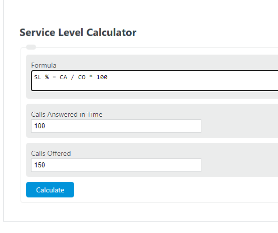service level calculator