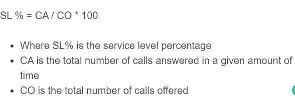 service level formula
