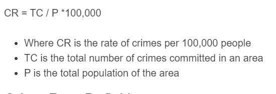 crime rate formula
