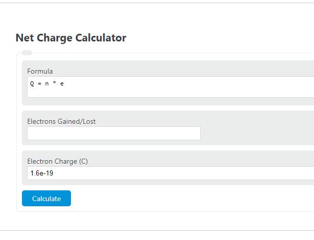 net charge calculator