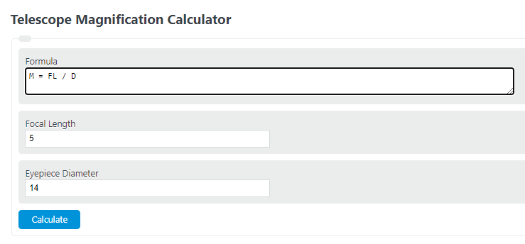 telescope magnification calculator