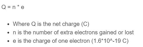 net charge formula