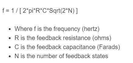 oscillator frequency formula