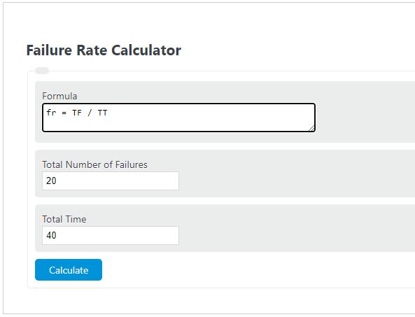 failure rate calculator
