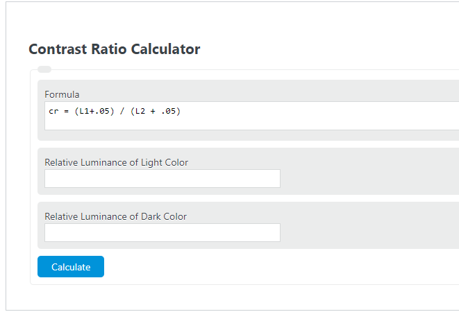contrast ratio calculator