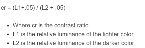 contrast ratio formula