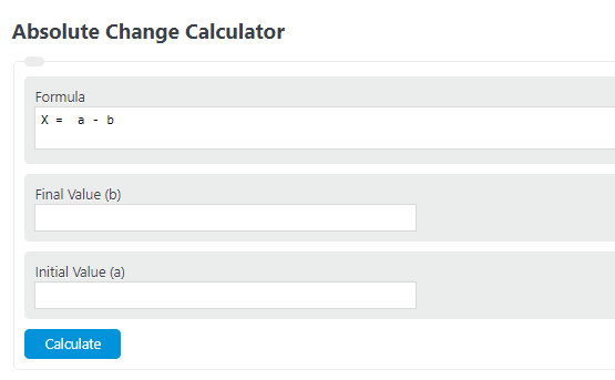 absolute change calculator