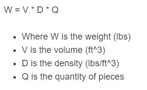 lumber weight formula
