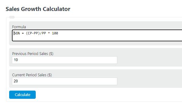 sales growth calculator