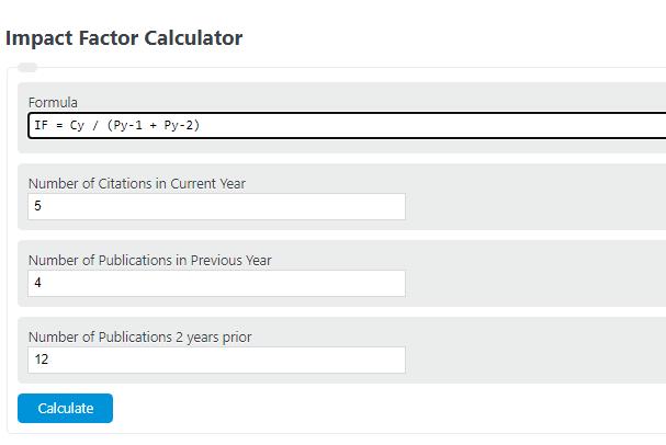 impact factor calculator
