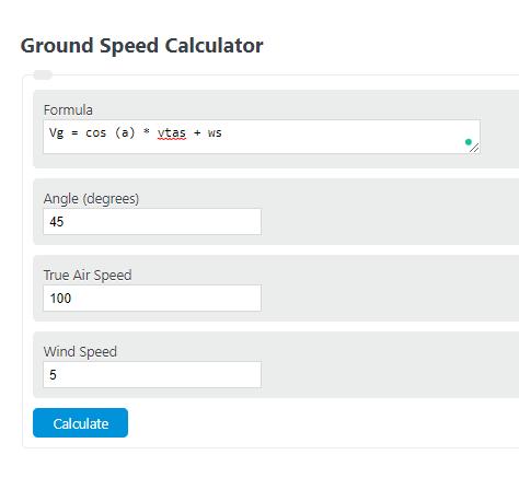 ground speed calculator