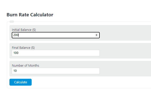 burn rate calculator