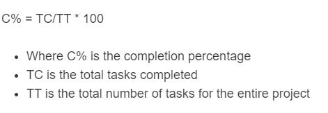 completion percentage formula