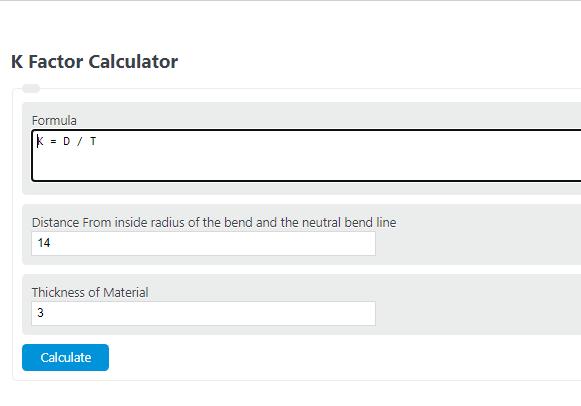 k factor calculator