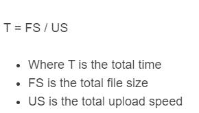 upload time formula