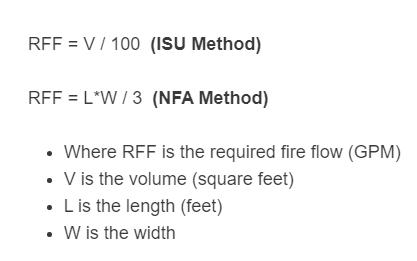 fire flow formula