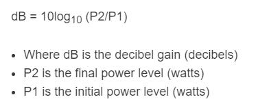 dB gain formula