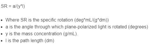 specific rotation formula