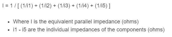 parallel impedance formula