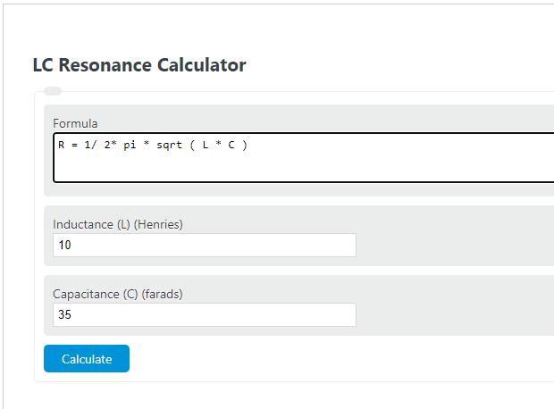 lc resonance calculator
