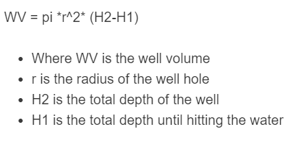well volume formula