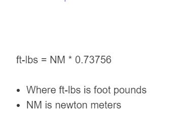 n-m to ft-lbs formula