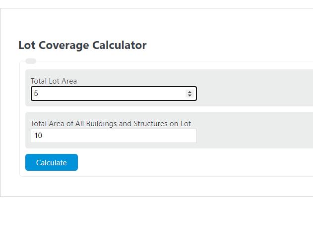 lot coverage calculator