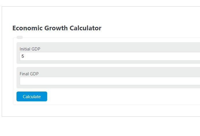 economic growth calculator
