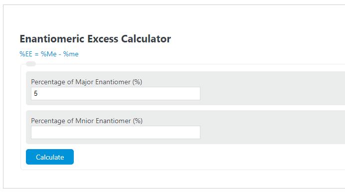 enantiomeric excess calculator