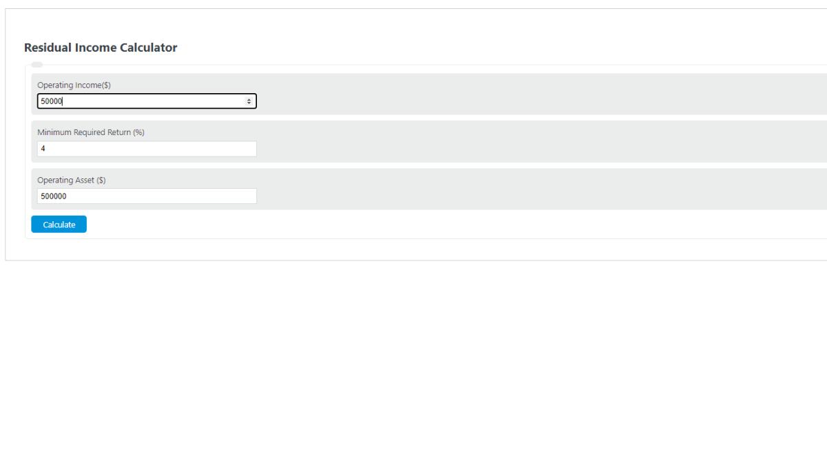 residual income calculator